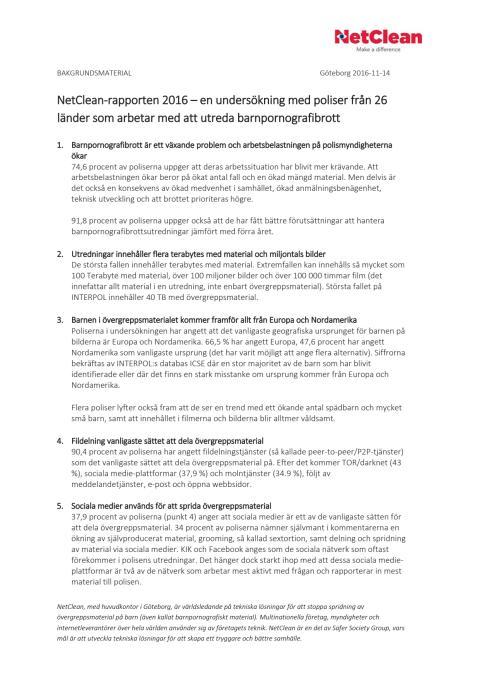 Sammanfattning NetClean-rapporten 2016