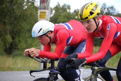 Bjørnar og Rasmus under EM Landevei