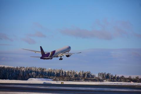 Thai Airways på Oslo lufthavn