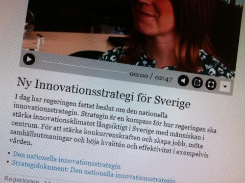 SwedenBIO sammanfattar innovationsstrategin - Goda intentioner och fokus på samarbete. Låt oss se till att det inte blir en skrivbordsprodukt!