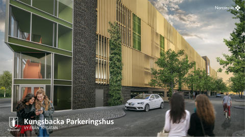 Tuve Bygg vann upphandlingen av nya parkeringshuset i Kungsbacka