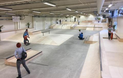 Halda skatehall. Foto: Thomas Mattsson