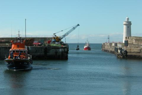 Moray Boats in Buckie Harbour