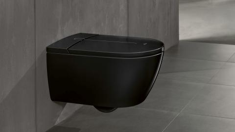 A shower toilet in jet black -    ViClean-I 100 Black Edition makes a statement in the bathroom