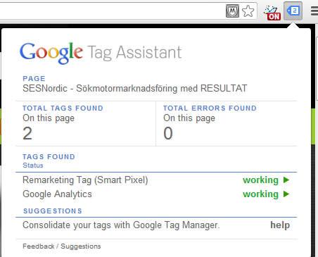 Google Tag Assistant och Analytics Debugger – bra tillägg till Chrome