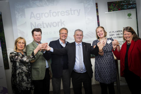 Sven-Erik Bucht, landsbygdsminister, inviger Agroforestry Network