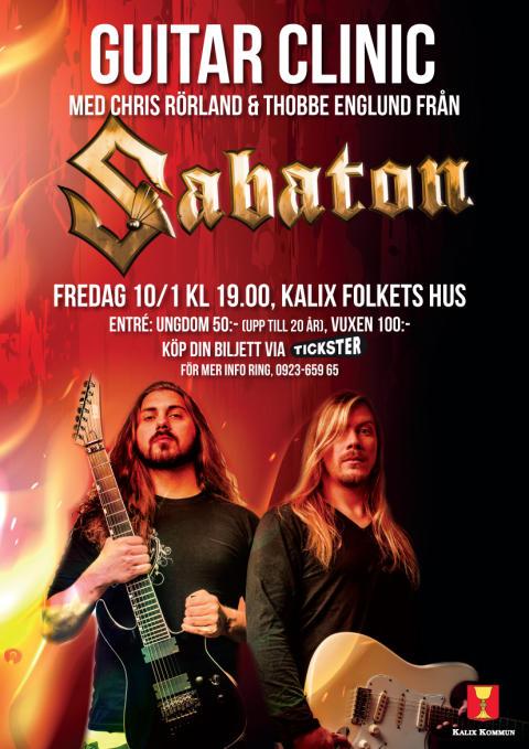 Gitarrklinik med världsartister i Kalix