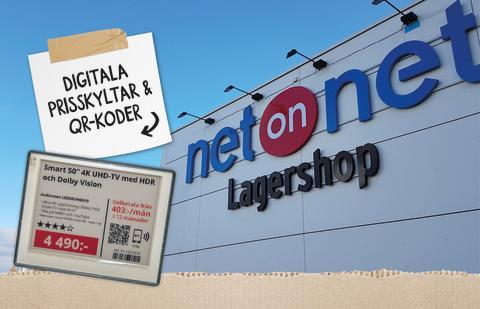 NetOnNet i samarbete med SES-imagotag och Idnet kring elektroniska hyllkantsetiketter