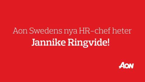 Aon Swedens nya HR chef heter Jannike Ringvide!