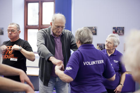 Stroke Association volunteer supporting stroke survivor