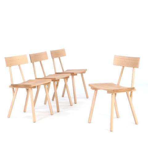 Rasmus Warberg: Et sæt på fire spisebordsstole