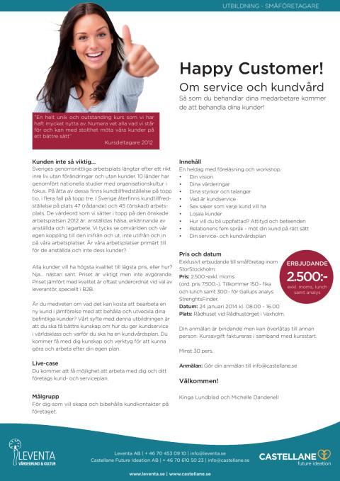 Utbildning - Happy Customer