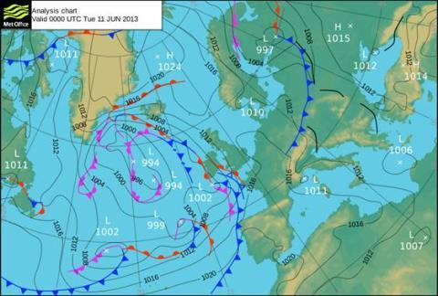 Aktuell väderprognos v. 24