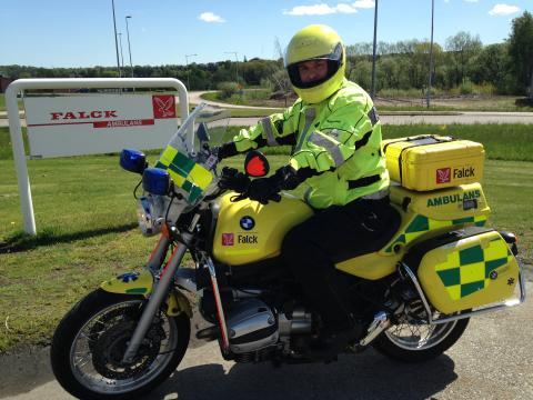Falck ger trygghet och hjälp på Malmöfestivalen med MC-ambulans