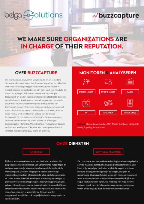 Brochure Media-analyse en reputatiemanagement tool