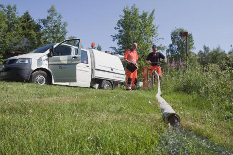 Renspolning av ledningsnätet i Skellefteå