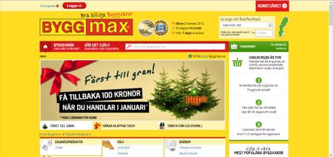 Byggmax nya sajt är LIVE!
