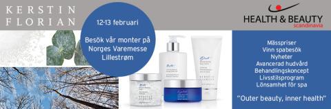 Kom och möt oss på Health & Beauty på Norska varemessen i Lillstrøm 12-13 februari!