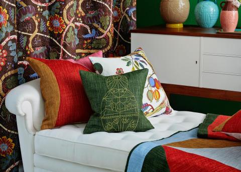 Interior picture, pillows - Via Sallustiana by Liselotte Watkins