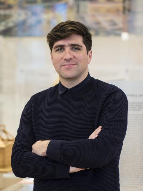 David Basulto, kurator for utstillingen i Den nordiske paviljongen under Arkitekturbiennalen i Venezia 2016