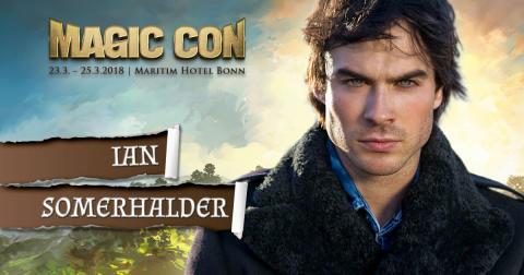 Ian Somerhalder - der unwiderstehliche Damon Salvatore aus Vampire Diaries kehrt zurück zur MagicCon in Bonn!