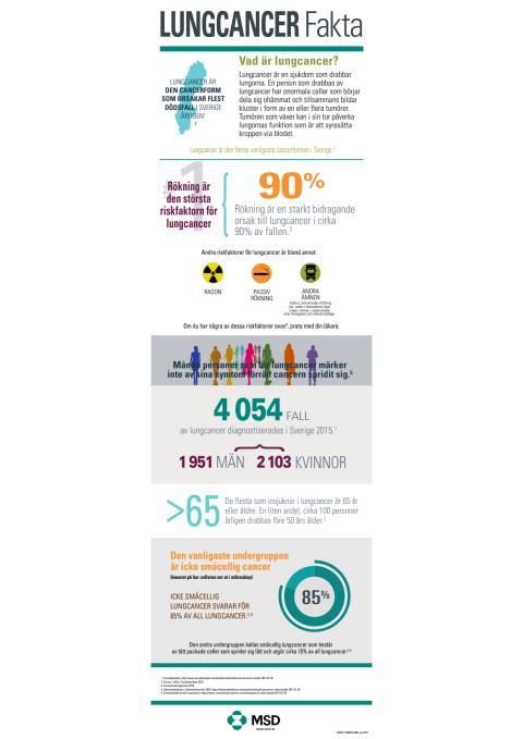 Nyhetsgrafik med fakta om lungcancer