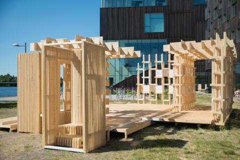 Arkitektur i framkant när Arkitekthögskolans studenter ställer ut