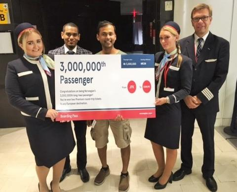 Norwegian flies three million low-cost long-haul passengers in three years