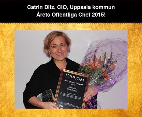 Catrin Ditz är Årets Offentliga Chef 2015