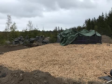 Vindkraftspark Slageryd - isolering av betongfundament