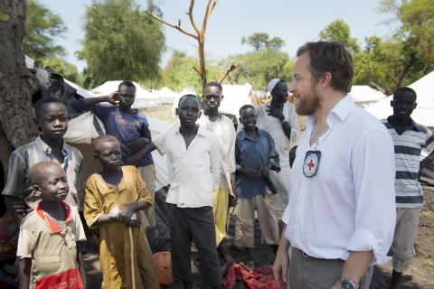 Melker Måbeck i flyktingläger i Sydsudan