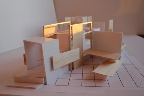Model of trend exhibition at Stockholm Furniture & Light Fair