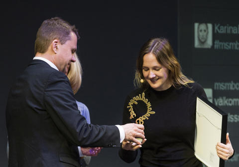 """Lina Thomsgård tackar Borås för ett """"otroligt viktigt pris"""""""