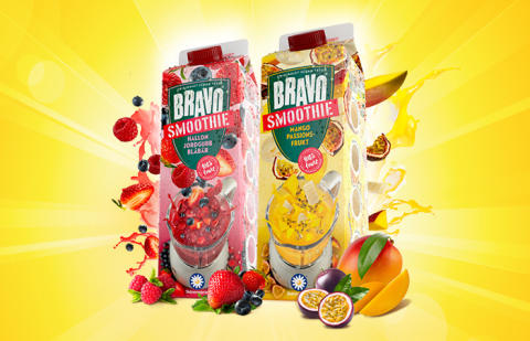 Bravo lanserar Bravo Smoothie - gjord på 100% frukt