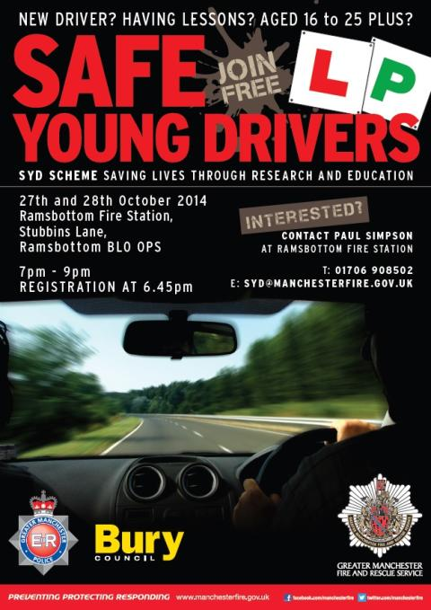 Safe Young Driver sessions at Ramsbottom Fire Station