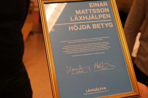 Einar Mattsson stöttar Läxhjälpen i Hjulsta