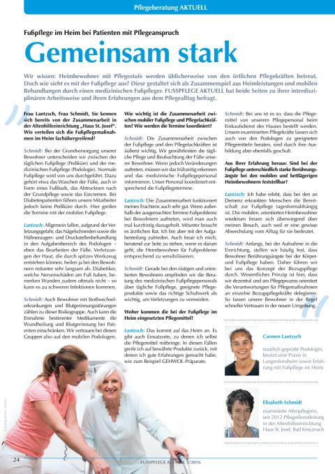 Gemeinsam stark: Fußpflege im Heim bei Patienten mit Pflegeanspruch