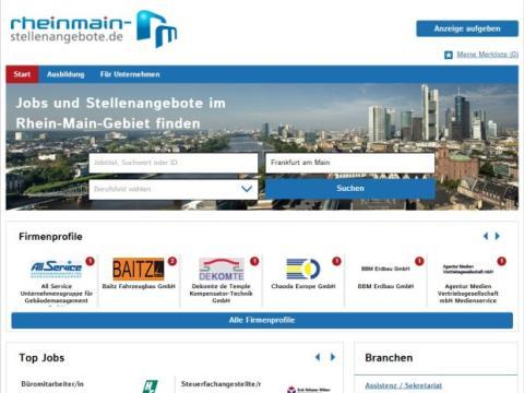 stellenanzeigen.de relauncht regionale Stellenbörse im Rhein-Main-Gebiet