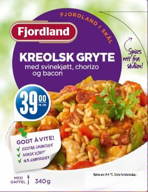 Fjordland i skål: Kreolsk gryte med svinekjøtt, chorizo, bacon
