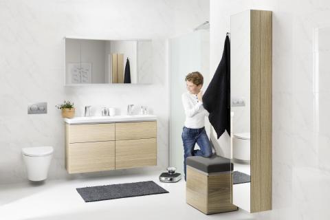 IDO Glow kalustaa kylpyhuoneen lattiasta kattoon