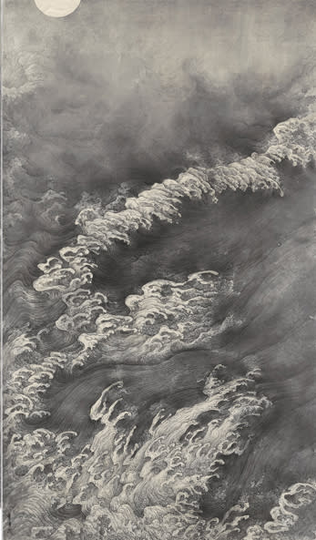 Li Huayi / Scen med moln och vatten, detalj, 2010 / Episode of Clouds and Water, detail, 2010