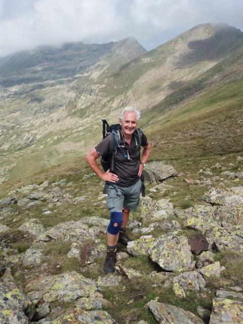 Hiking in Andorra with Veteran walker Stewart Ramsden