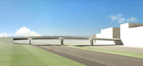 Ny modern bro viktig länk i knutpunkten Stockholm Väst
