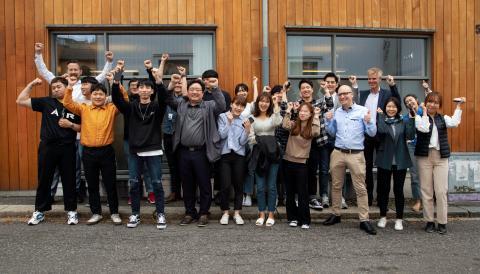 Koshipa and Dino Lab visiting Trainor HQ