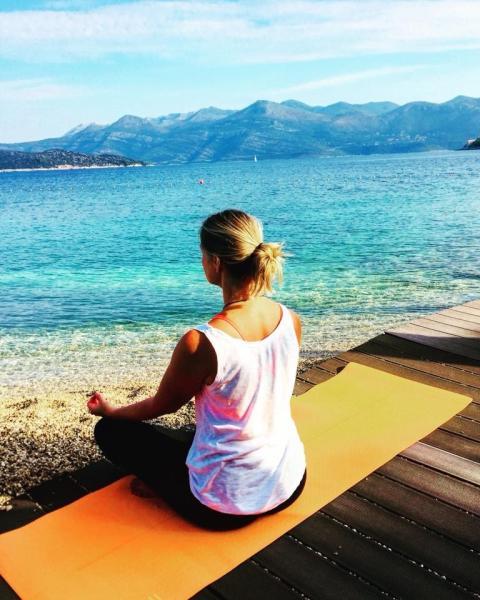 Mette Slinning mediterer