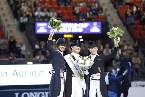 Isabell Werth, the queen of dressage, wins the FEI Dressage World Cup final™ for the third year in a row