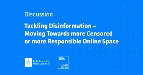 Se Live stream fra mediedebat i Riga d. 29. april: Tackling Disinformation