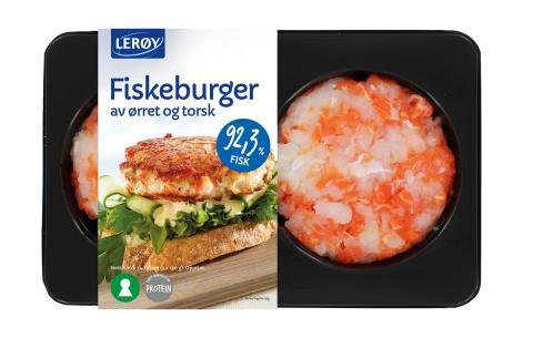 Fiskeburger av ørret og torsk