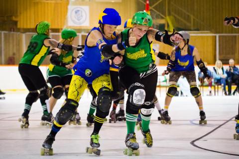 Stockholm Roller Derby möter Helsinki Roller Derby
