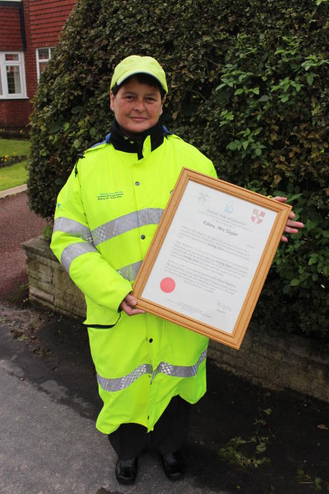 First Aid award for long-serving lollipop lady